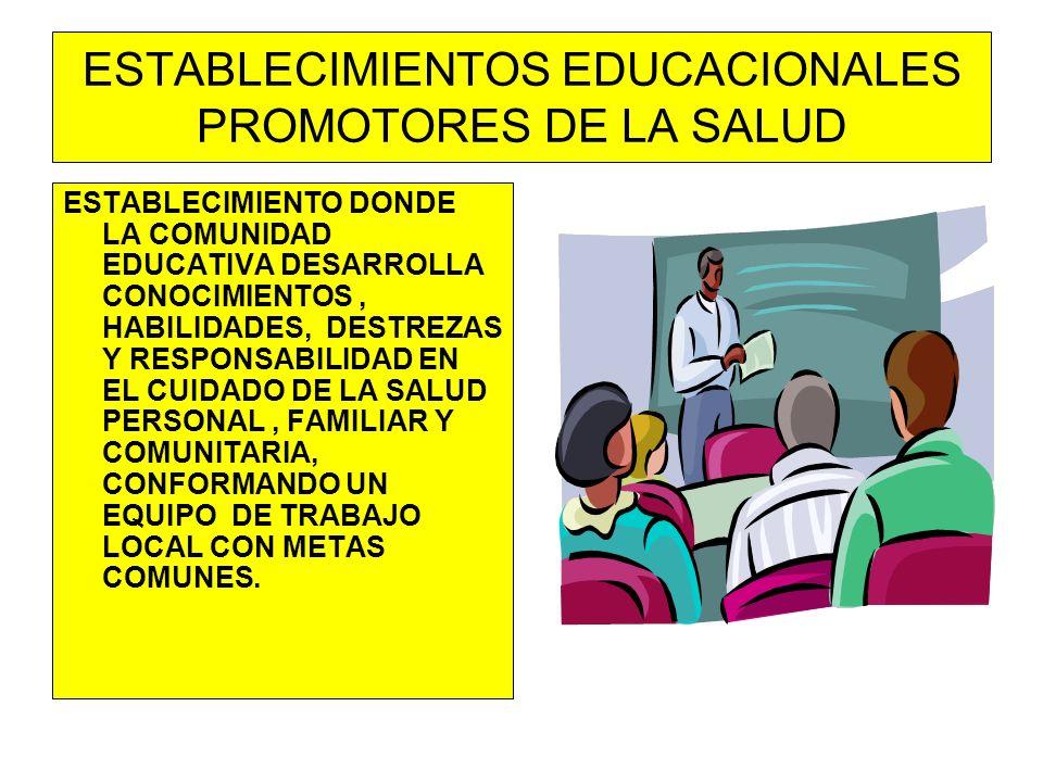ESTABLECIMIENTOS EDUCACIONALES PROMOTORES DE LA SALUD