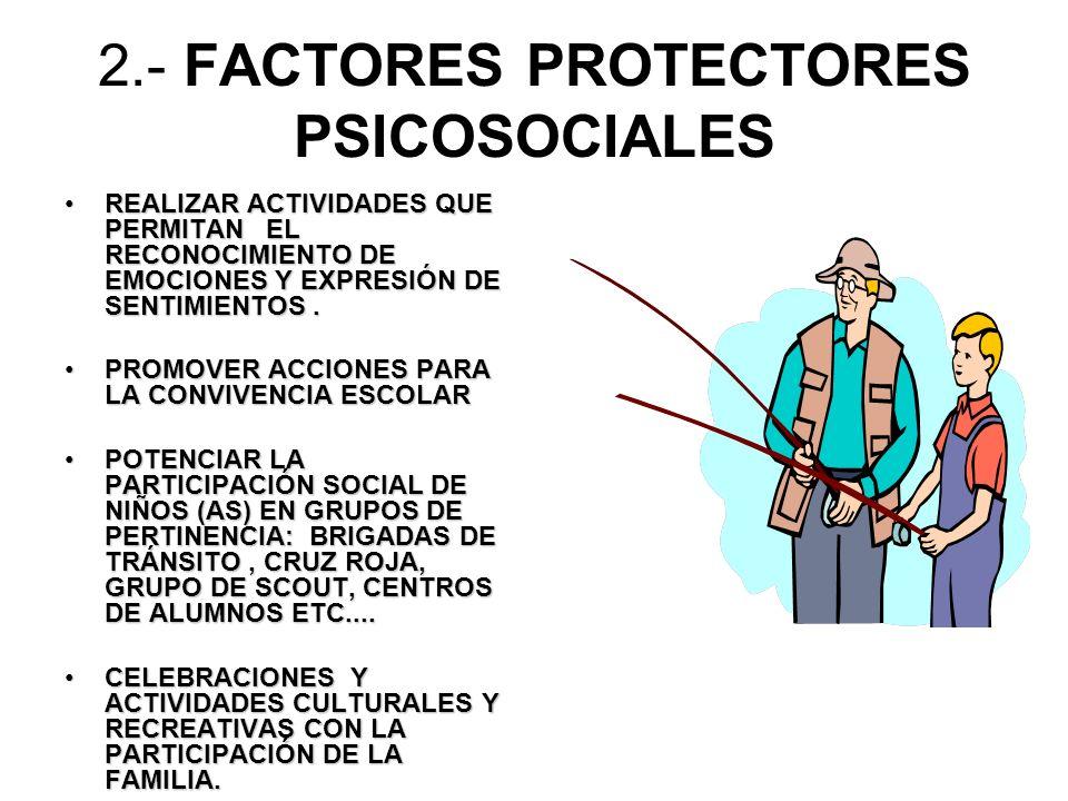 2.- FACTORES PROTECTORES PSICOSOCIALES