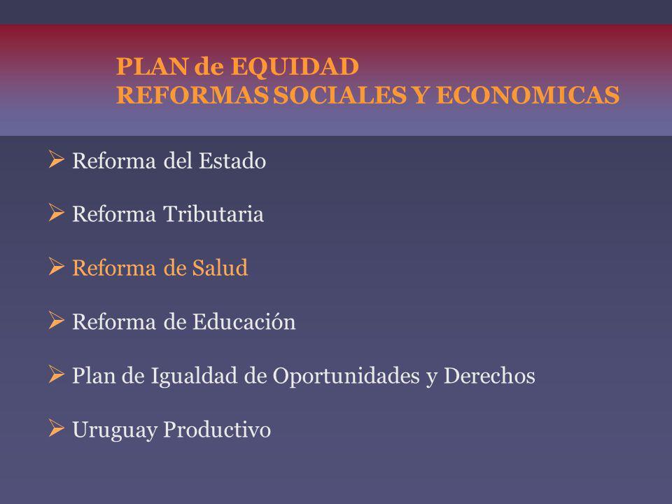 PLAN de EQUIDAD REFORMAS SOCIALES Y ECONOMICAS