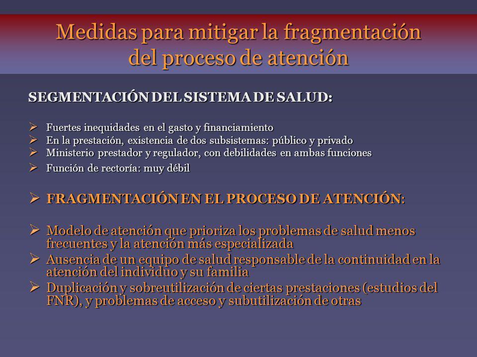 Medidas para mitigar la fragmentación del proceso de atención