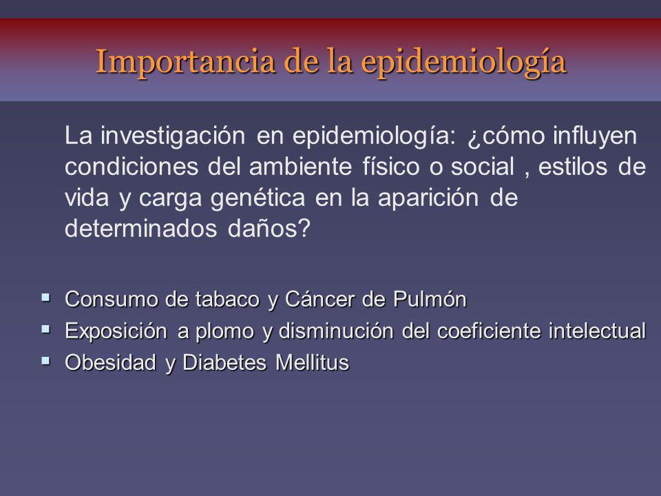 Importancia de la epidemiología