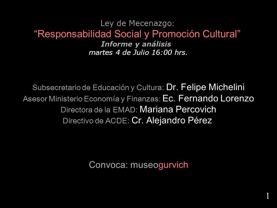 Responsabilidad Social y Promoción Cultural