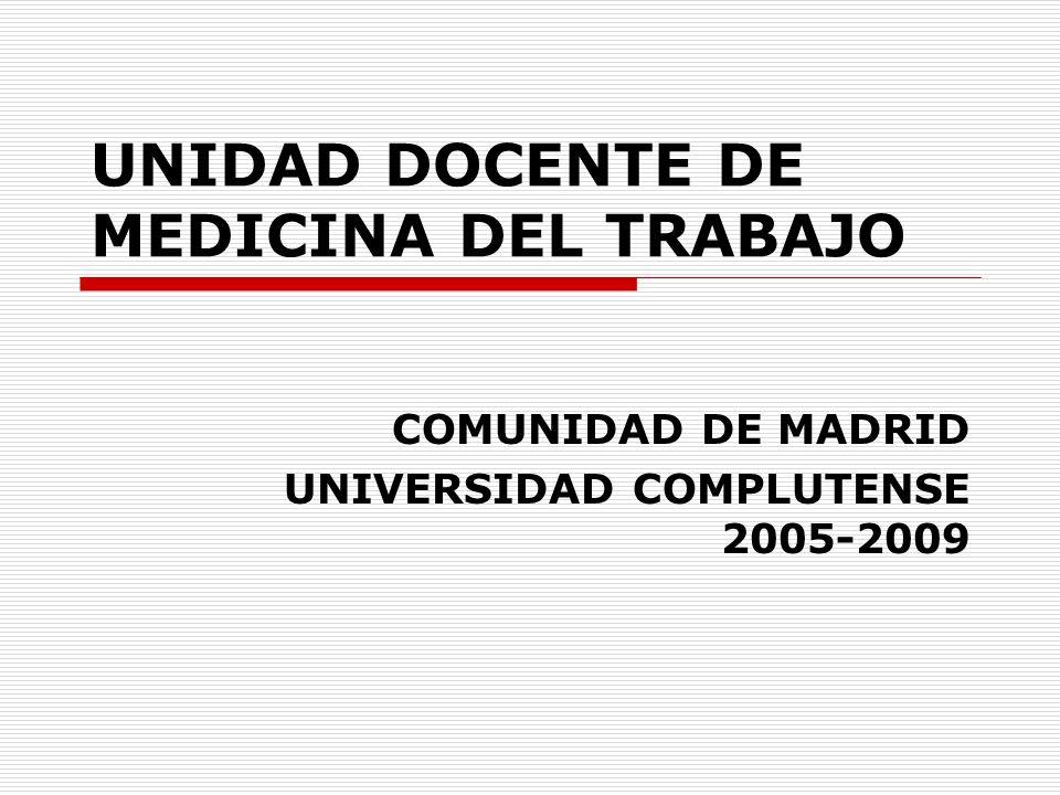 UNIDAD DOCENTE DE MEDICINA DEL TRABAJO