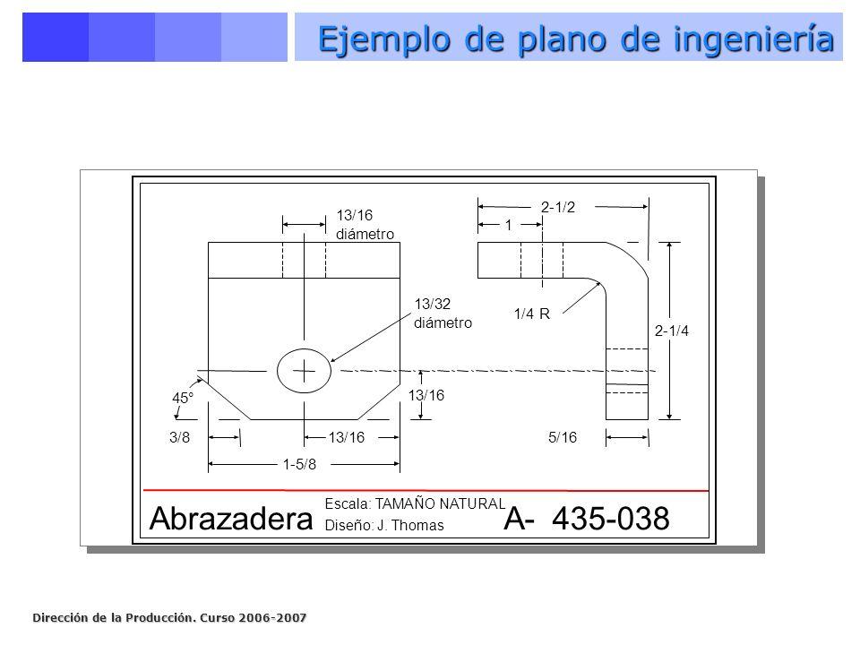 Ejemplo de plano de ingeniería