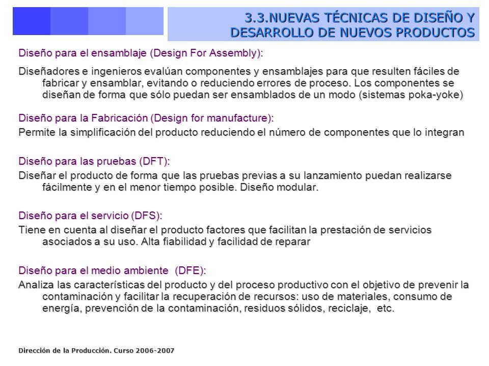 3.3.NUEVAS TÉCNICAS DE DISEÑO Y DESARROLLO DE NUEVOS PRODUCTOS