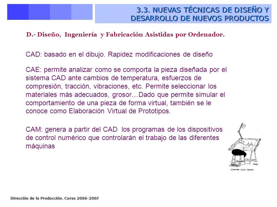 D.- Diseño, Ingeniería y Fabricación Asistidas por Ordenador.