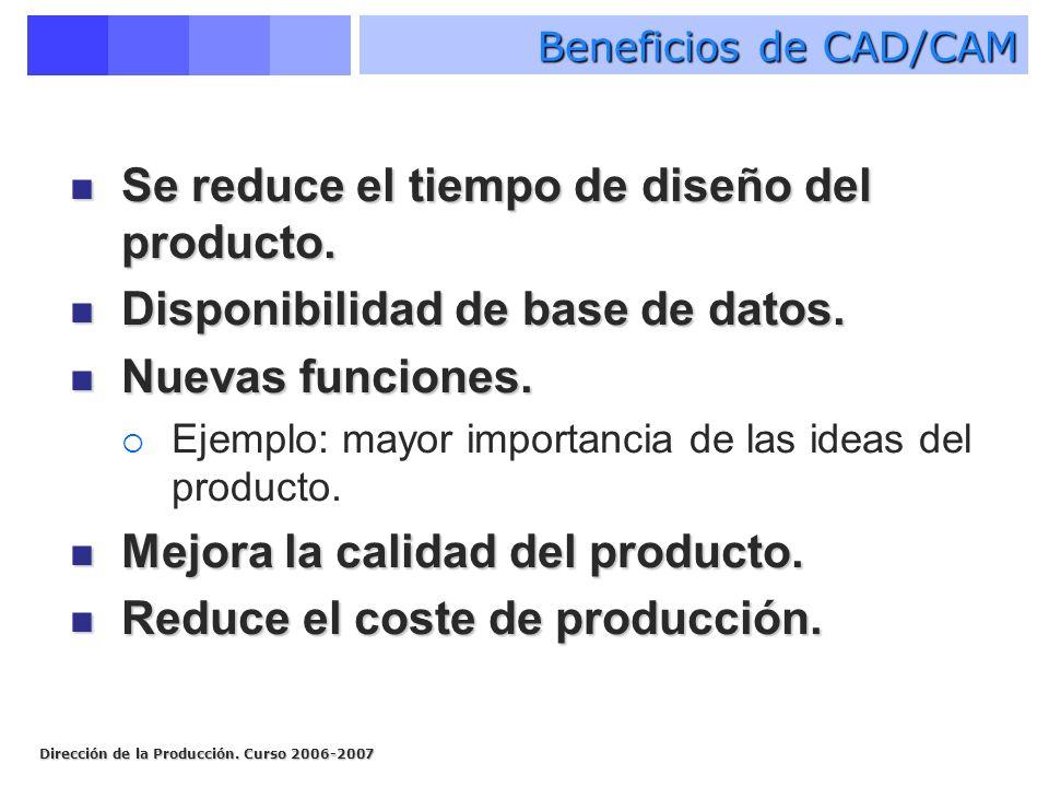 Se reduce el tiempo de diseño del producto.