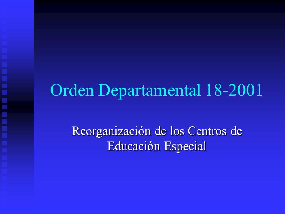 Reorganización de los Centros de Educación Especial