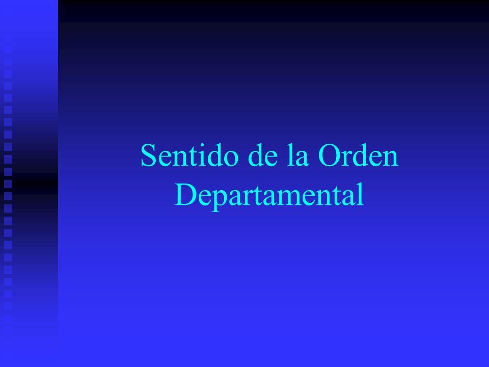 Sentido de la Orden Departamental