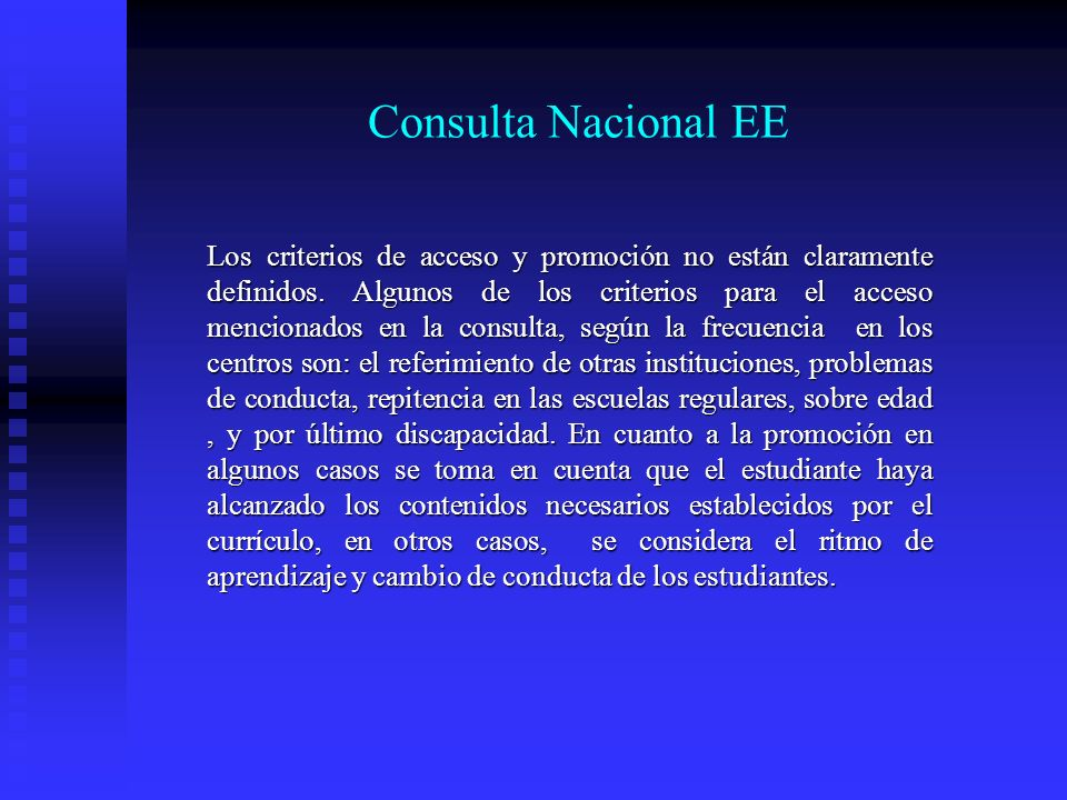 Consulta Nacional EE