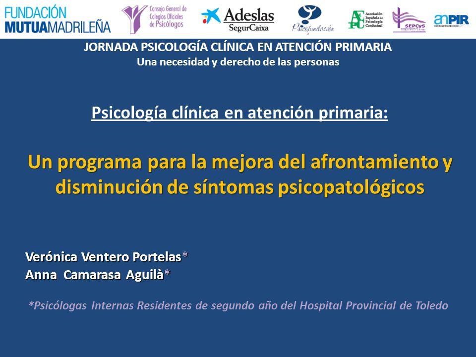 Psicología clínica en atención primaria: Un programa para la mejora del afrontamiento y disminución de síntomas psicopatológicos