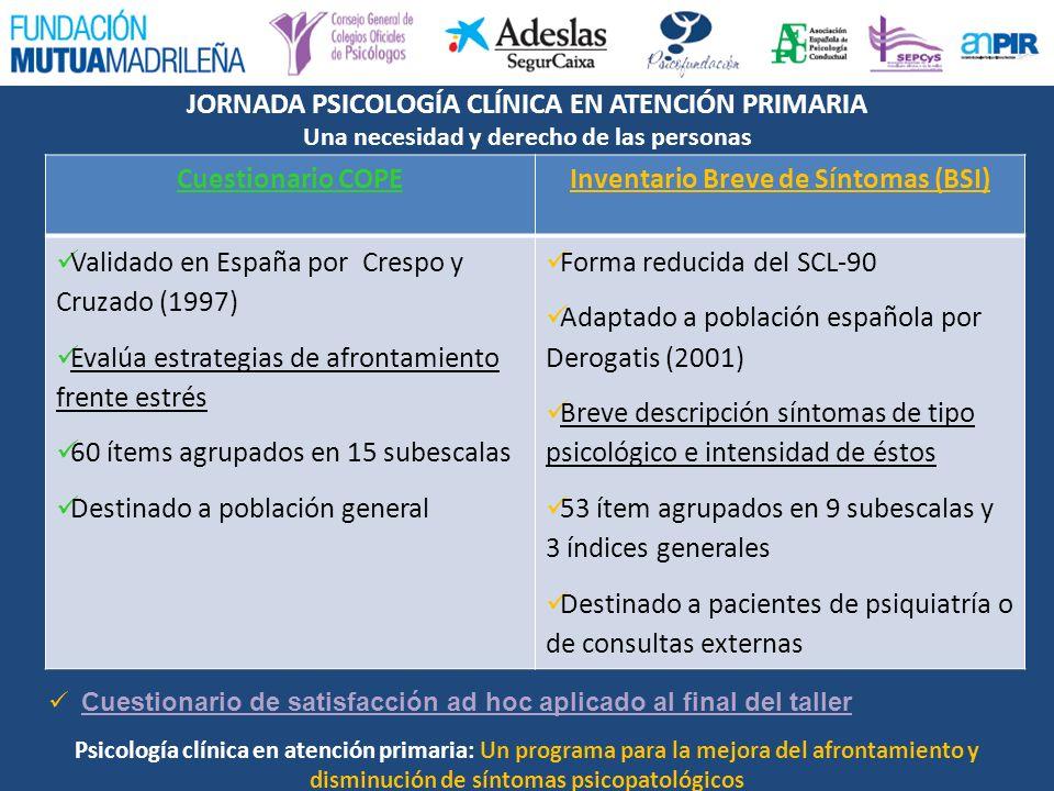 Inventario Breve de Síntomas (BSI)