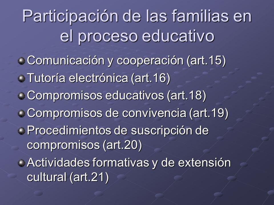 Participación de las familias en el proceso educativo