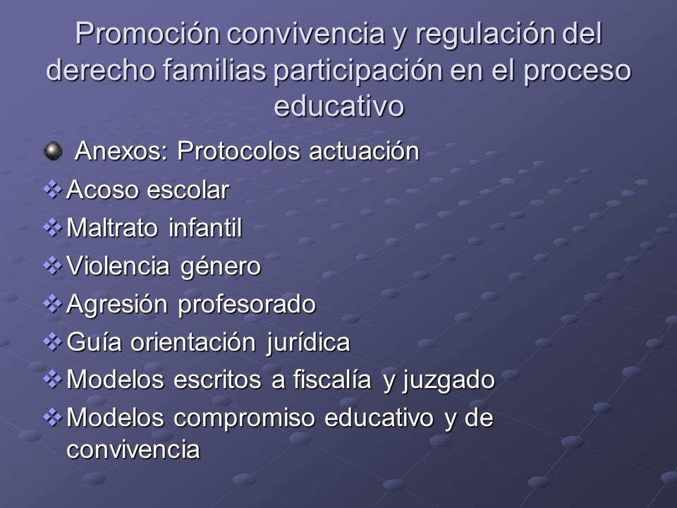 Anexos: Protocolos actuación