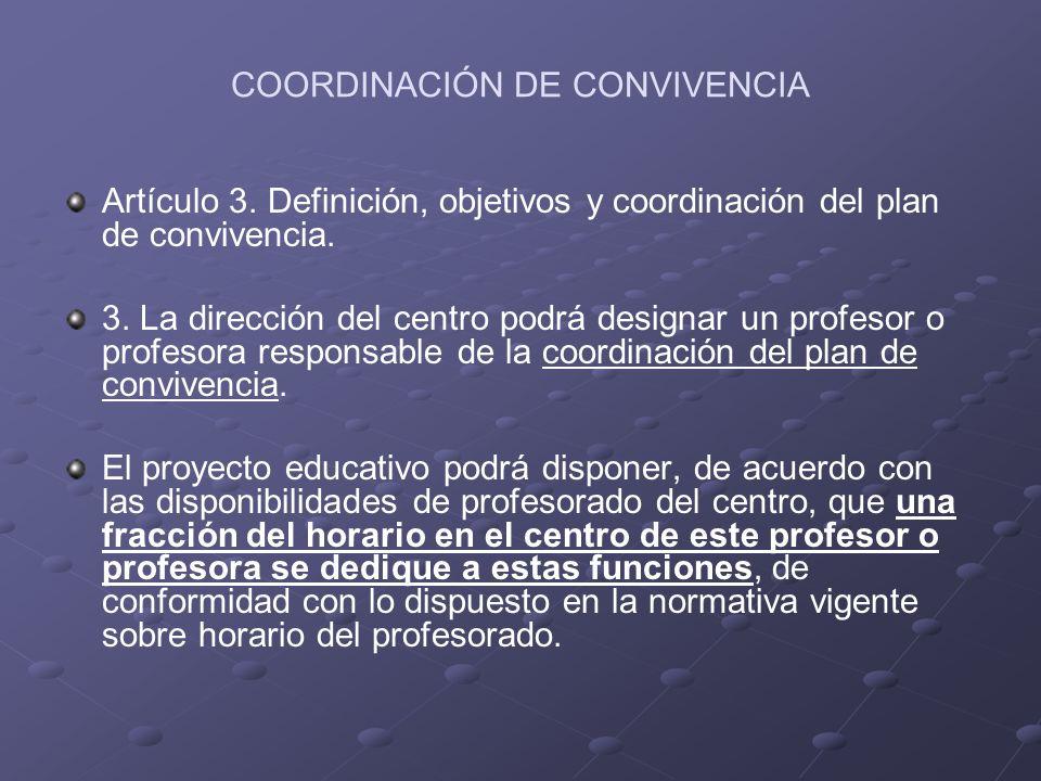 COORDINACIÓN DE CONVIVENCIA