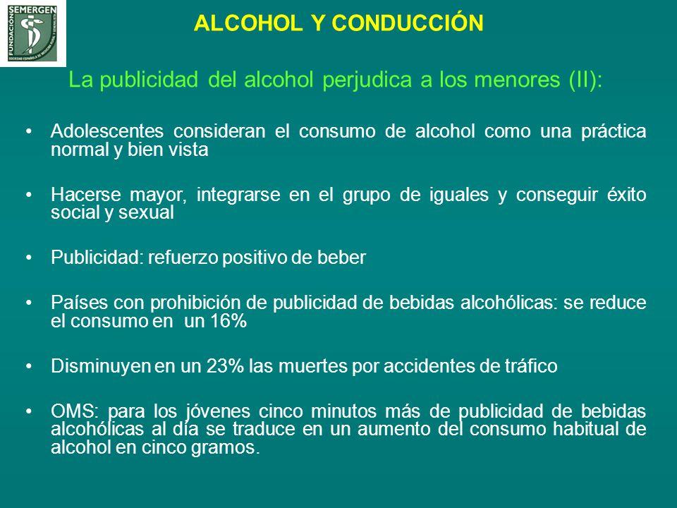 La publicidad del alcohol perjudica a los menores (II):