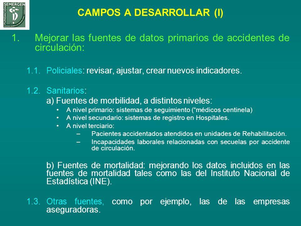 CAMPOS A DESARROLLAR (I)