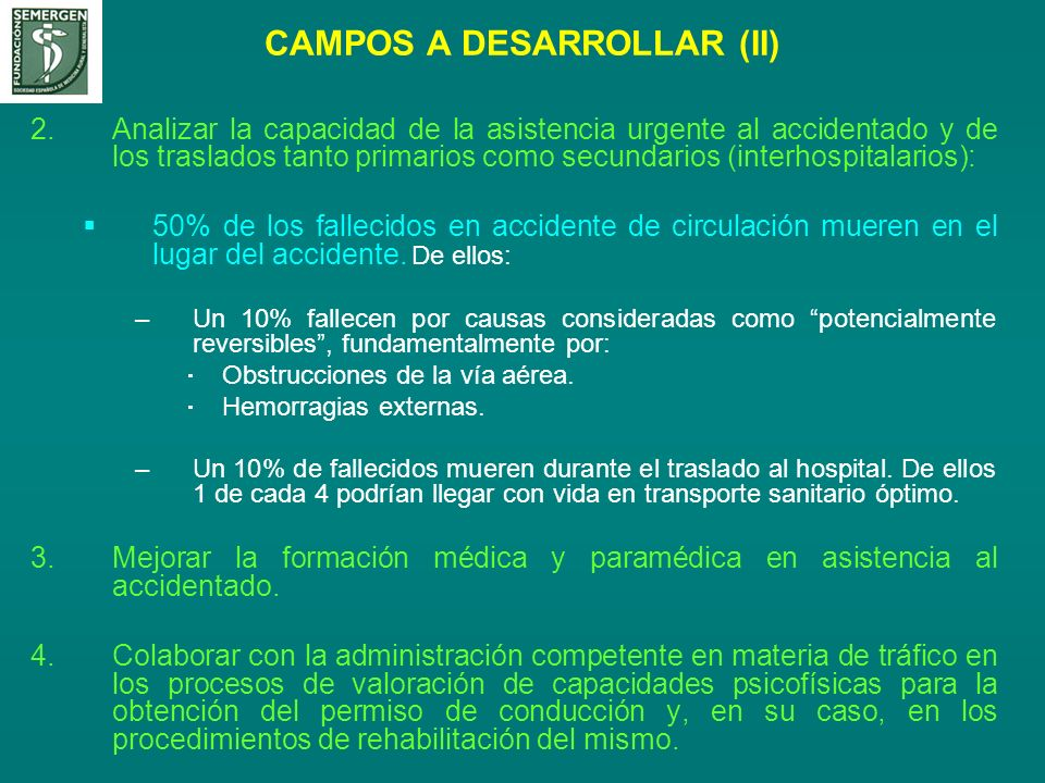 CAMPOS A DESARROLLAR (II)