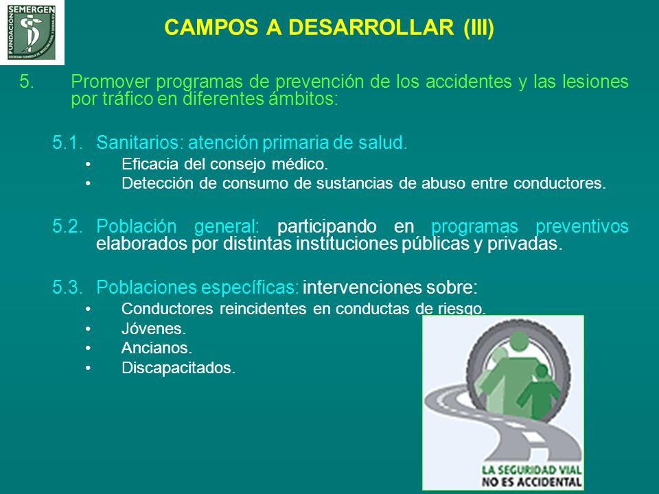 CAMPOS A DESARROLLAR (III)