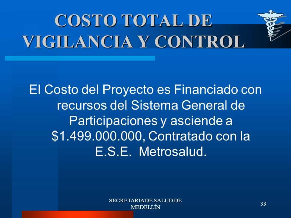 COSTO TOTAL DE VIGILANCIA Y CONTROL