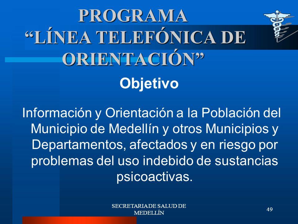 PROGRAMA LÍNEA TELEFÓNICA DE ORIENTACIÓN