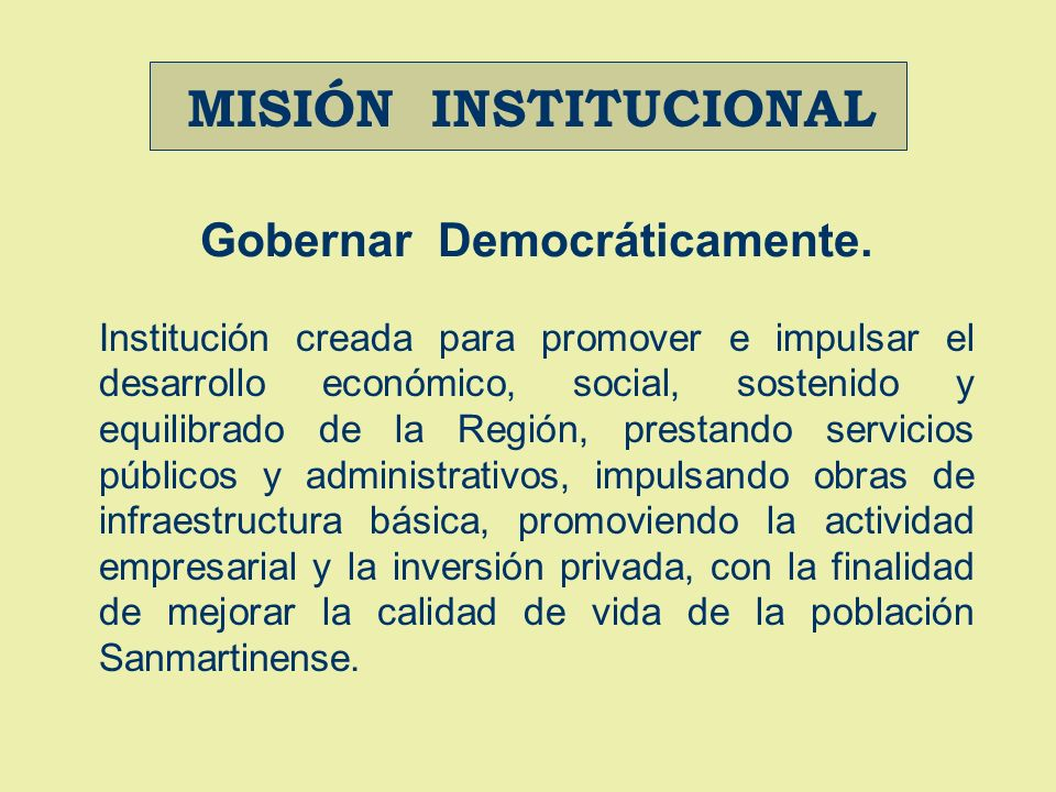 Gobernar Democráticamente.