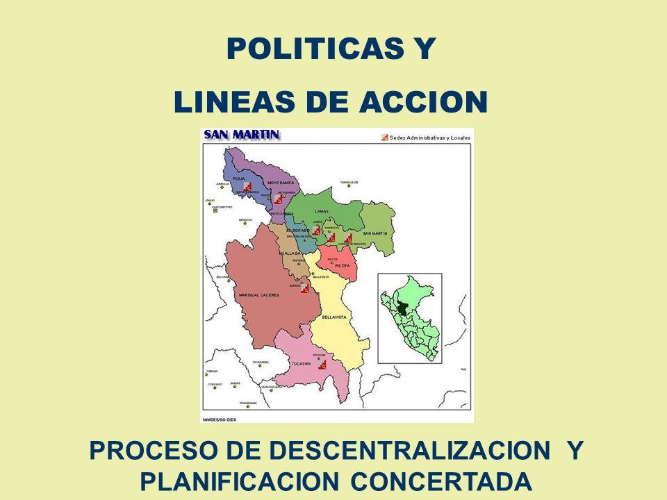 PROCESO DE DESCENTRALIZACION Y PLANIFICACION CONCERTADA