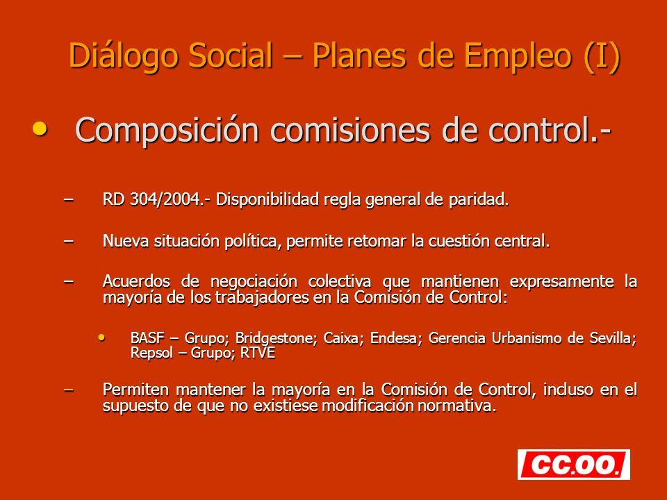 Diálogo Social – Planes de Empleo (I)