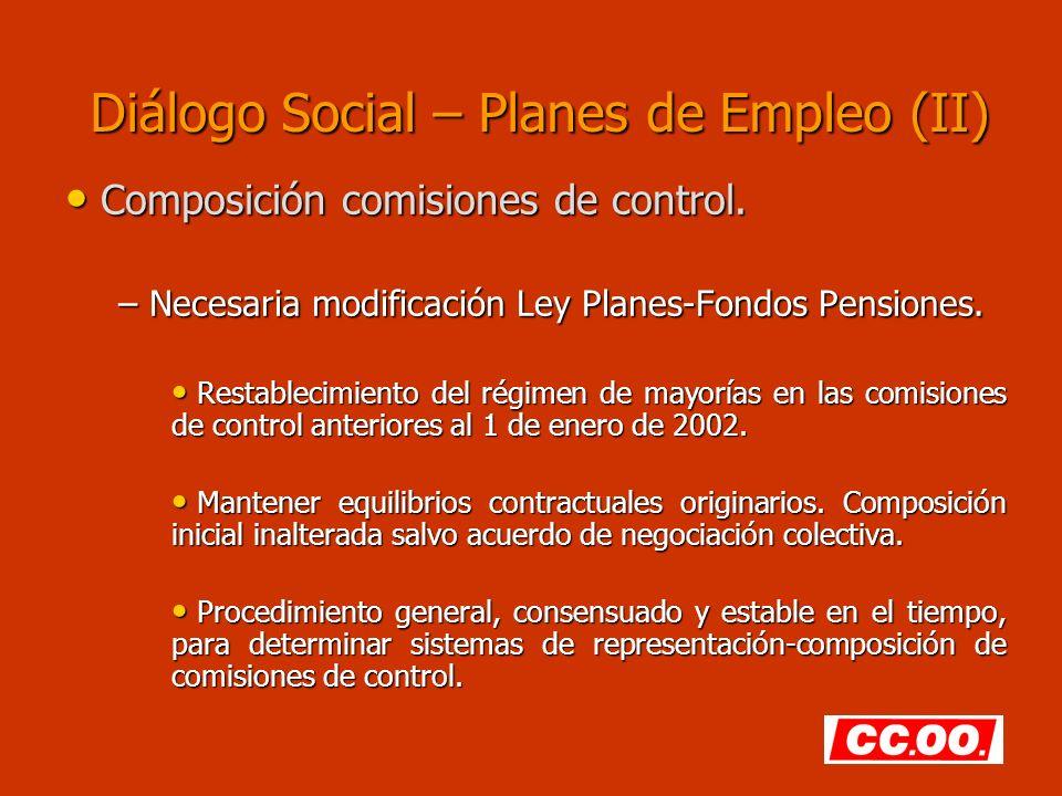 Diálogo Social – Planes de Empleo (II)