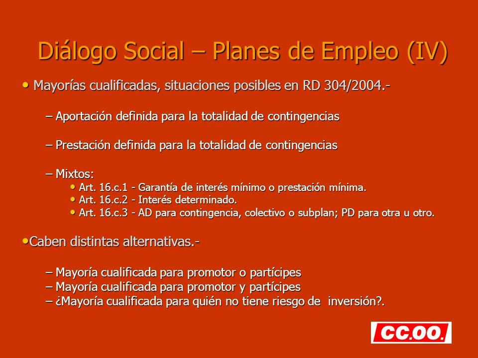 Diálogo Social – Planes de Empleo (IV)