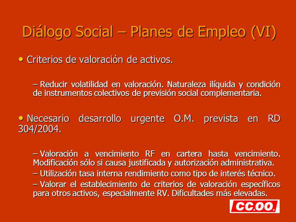 Diálogo Social – Planes de Empleo (VI)