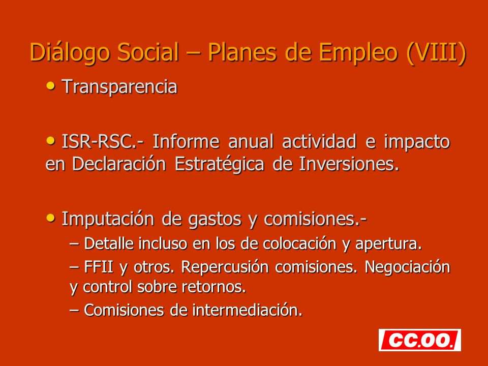 Diálogo Social – Planes de Empleo (VIII)