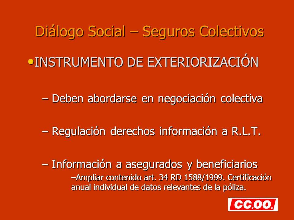 Diálogo Social – Seguros Colectivos