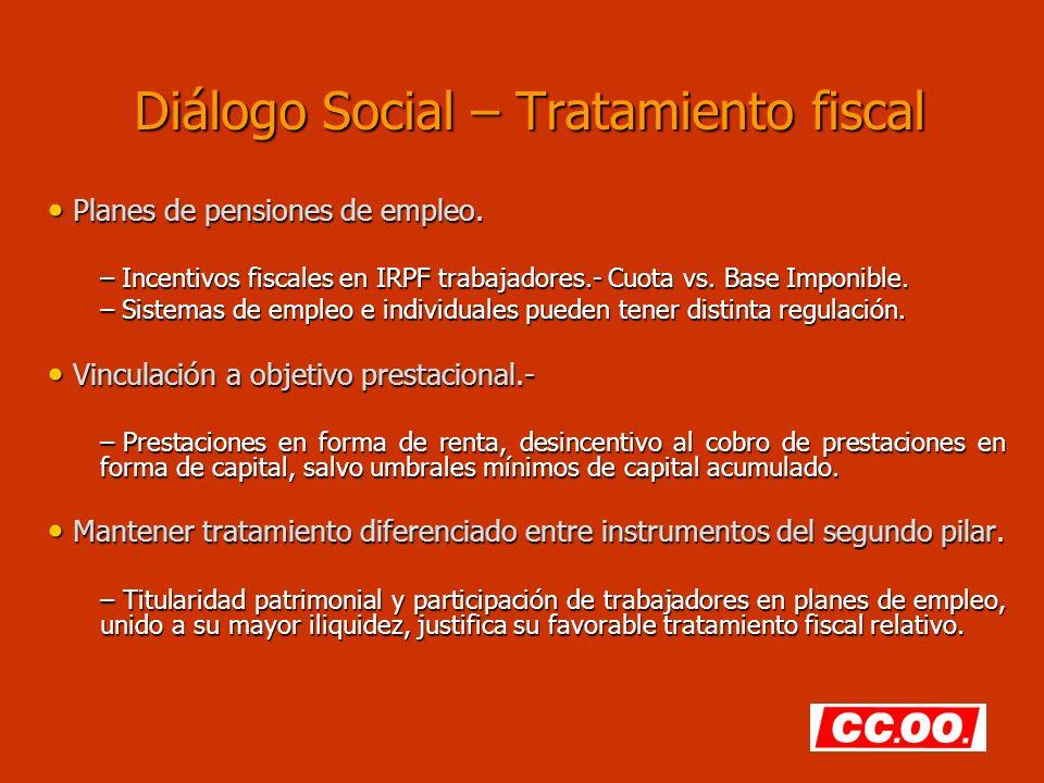 Diálogo Social – Tratamiento fiscal