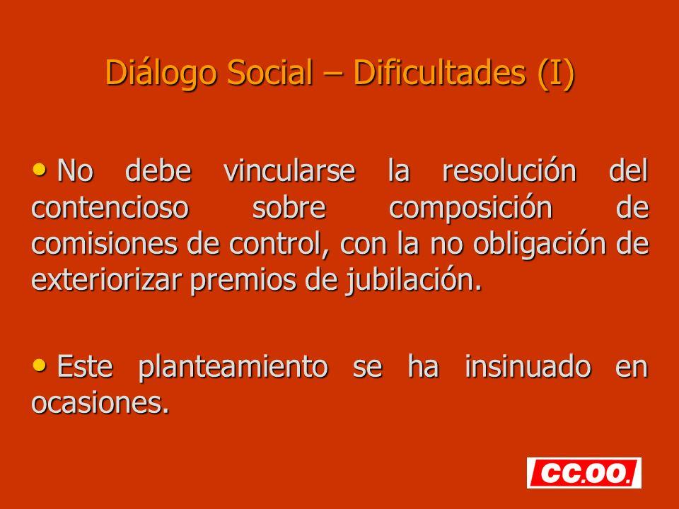 Diálogo Social – Dificultades (I)