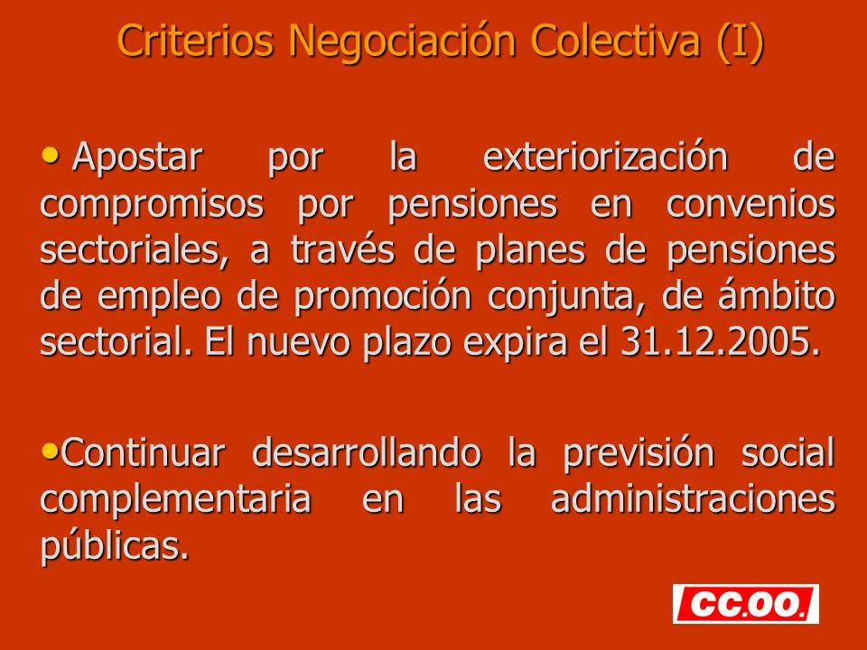 Criterios Negociación Colectiva (I)