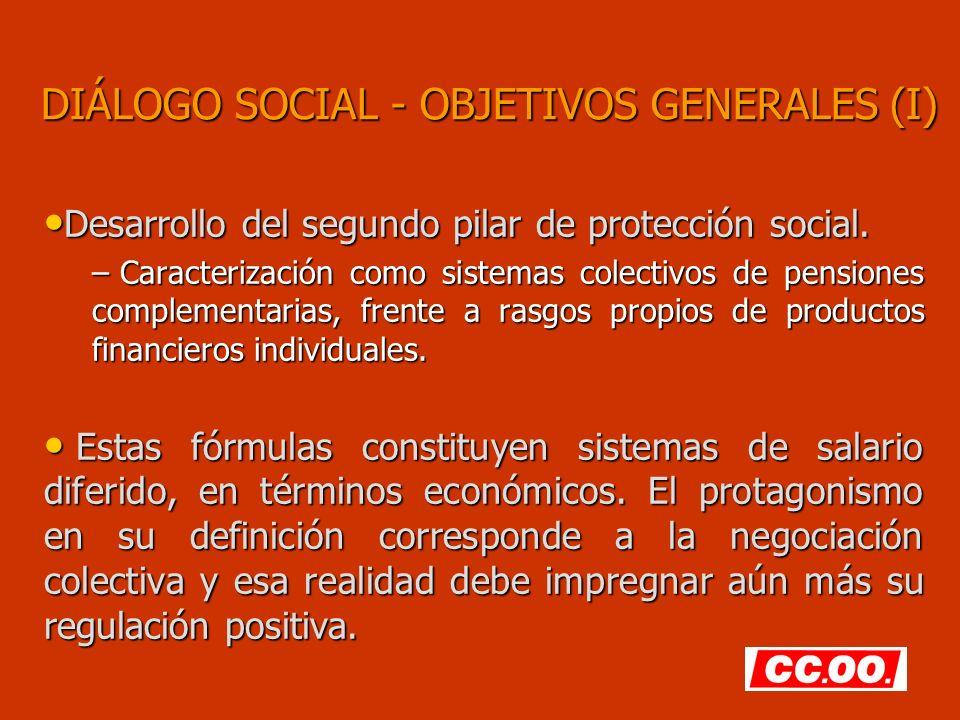DIÁLOGO SOCIAL - OBJETIVOS GENERALES (I)