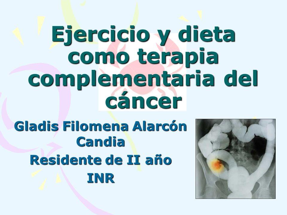 Ejercicio y dieta como terapia complementaria del cáncer