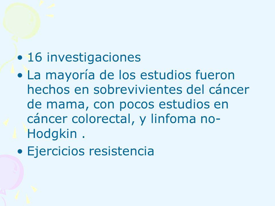16 investigaciones