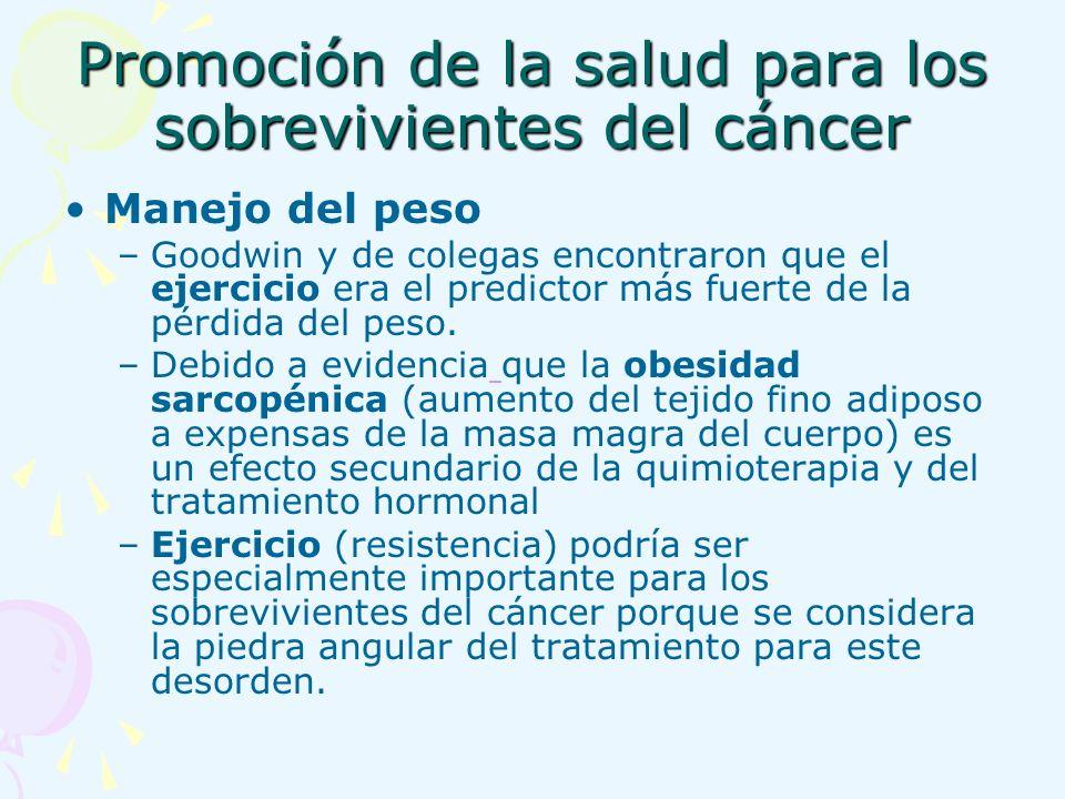 Promoción de la salud para los sobrevivientes del cáncer