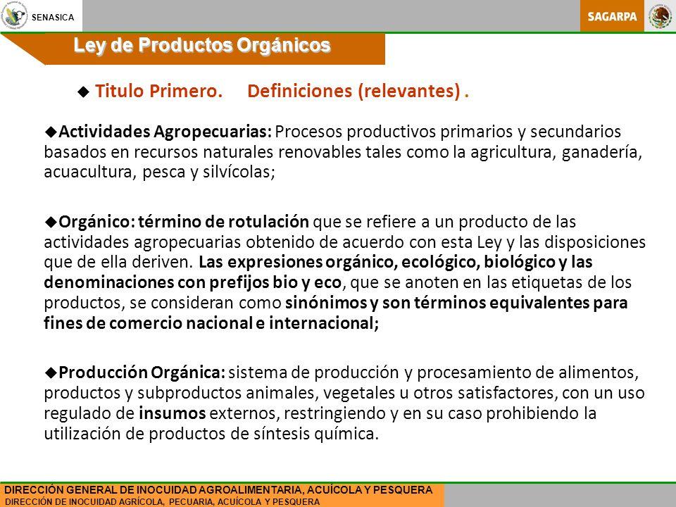 Ley de Productos Orgánicos