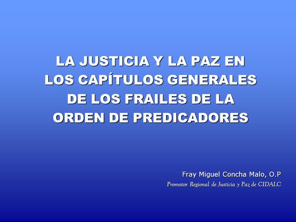 LOS CAPÍTULOS GENERALES