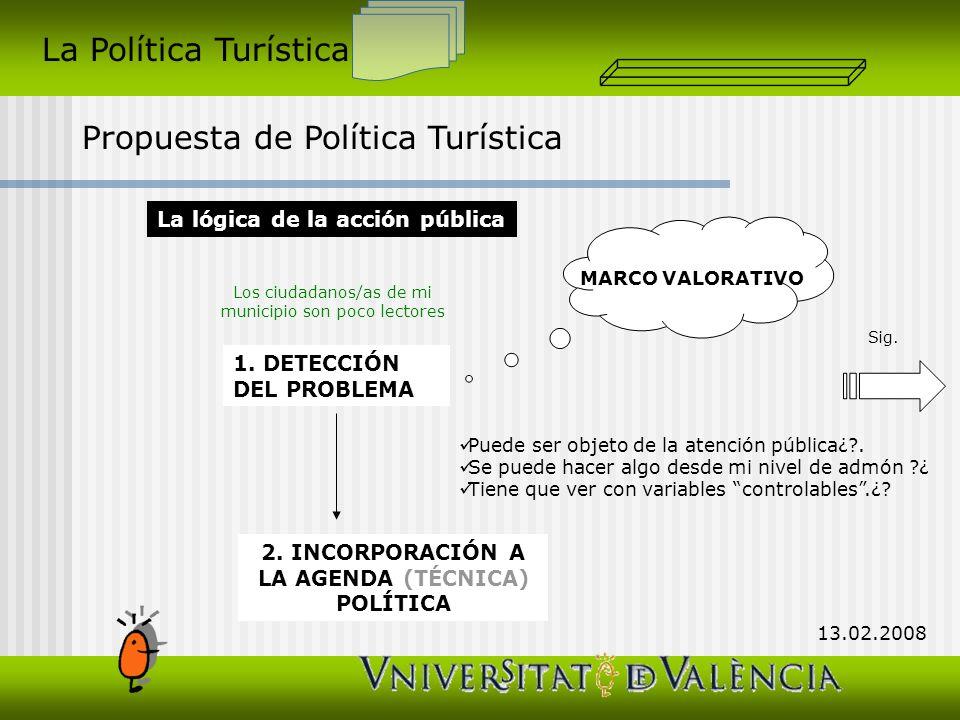 2. INCORPORACIÓN A LA AGENDA (TÉCNICA) POLÍTICA