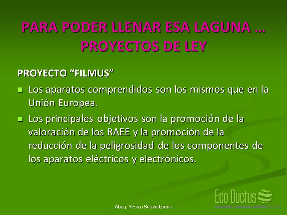 PARA PODER LLENAR ESA LAGUNA … PROYECTOS DE LEY
