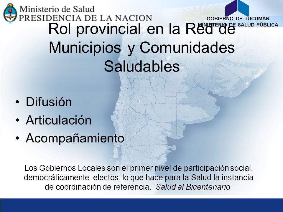 Rol provincial en la Red de Municipios y Comunidades Saludables