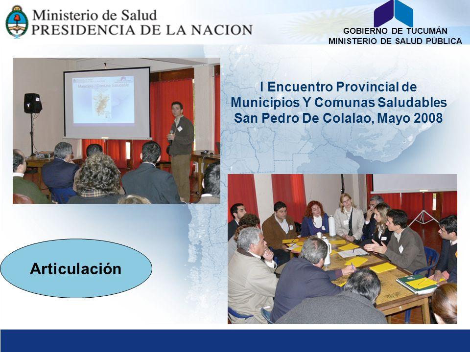 Articulación I Encuentro Provincial de Municipios Y Comunas Saludables