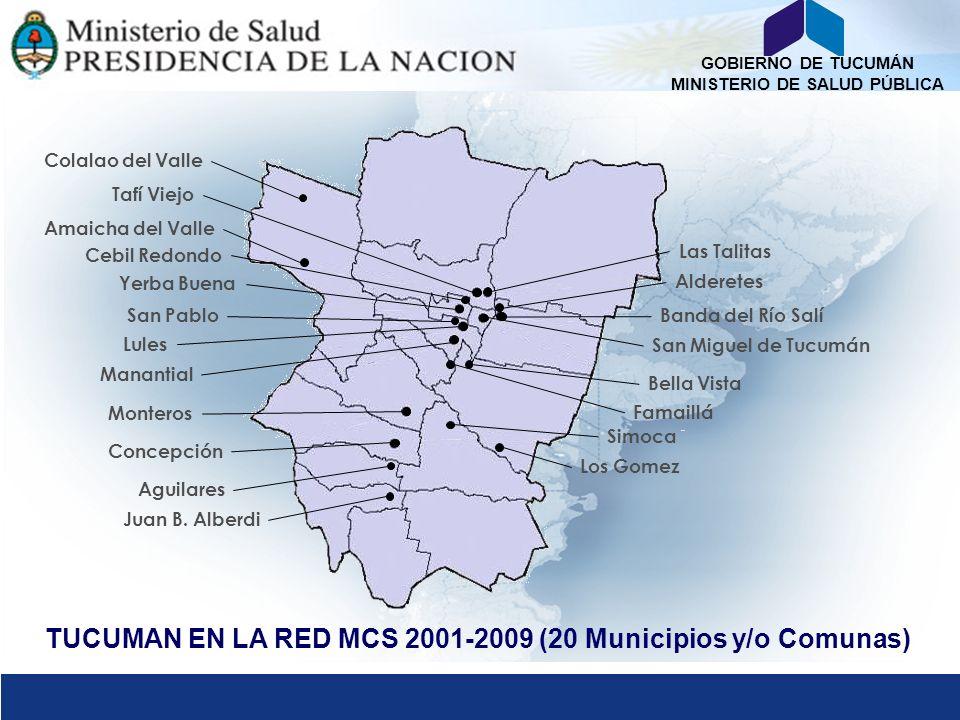 TUCUMAN EN LA RED MCS 2001-2009 (20 Municipios y/o Comunas)