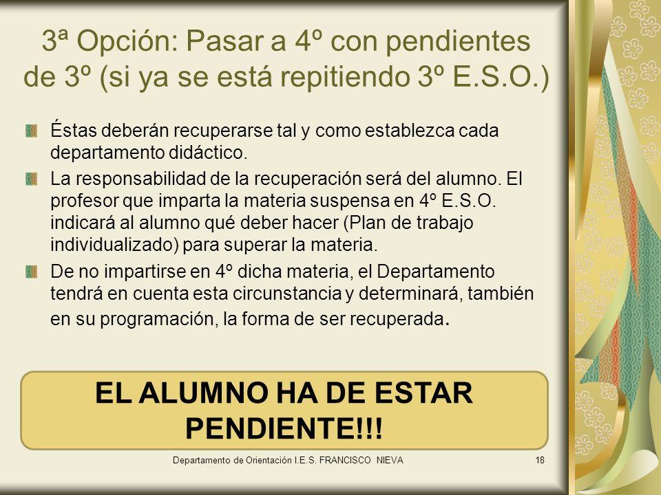EL ALUMNO HA DE ESTAR PENDIENTE!!!