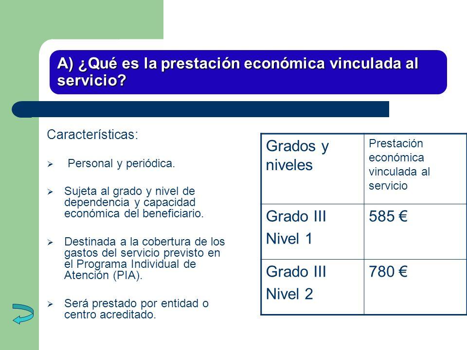 A) ¿Qué es la prestación económica vinculada al servicio
