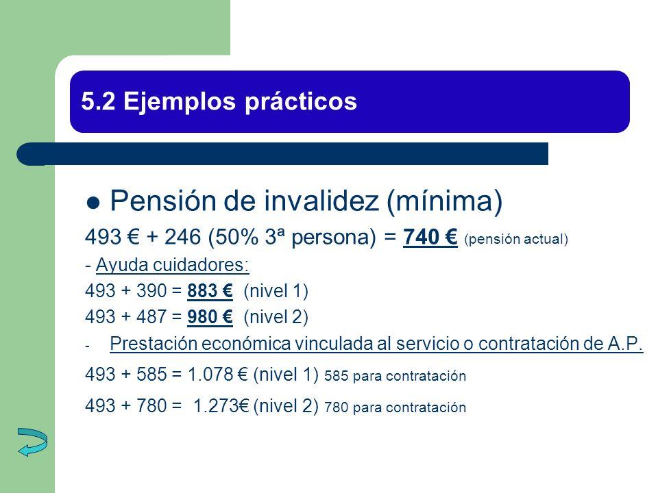 Pensión de invalidez (mínima)
